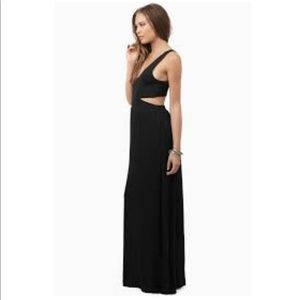 Tobi Esther Side Slit Maxi Dress in Black small ✨